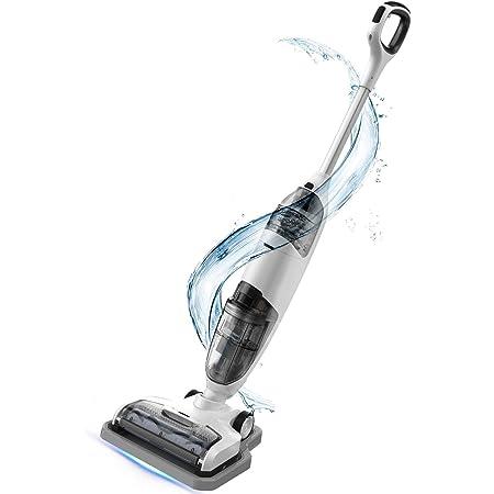 Cordless Wet Dry Vacuum Cleaner Lightweight Hard Floor Cleaner Vacuum Mop One-Step Cleaning