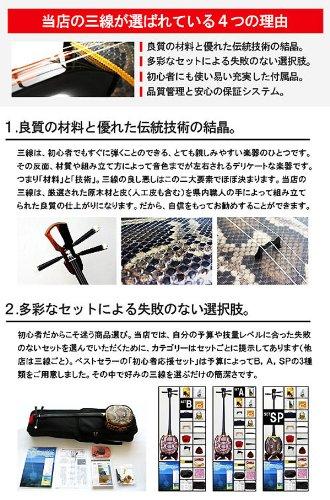 三線ちゅら咲『初心者応援セットB/ハイグレードEX【bst-exb】』