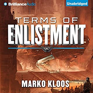 Terms of Enlistment     Frontlines, Book 1              Written by:                                                                                                                                 Marko Kloos                               Narrated by:                                                                                                                                 Luke Daniels                      Length: 9 hrs and 36 mins     30 ratings     Overall 4.3
