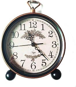 LambTown 5,5 Pulgadas de Retro Vintage Despertador Silencioso no Ticking Bedside Watch Decoración Para el Hogar