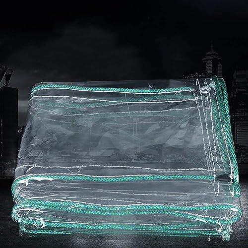 L-BHQF Bache imperméable Claire de PVC de 0.7mm Anti-vieillissement, Feuille de Sol de bache extérieure d'isolation Couvrant Le Tissu jeté, 500g   M2 (Taille   1.8x4.5m)
