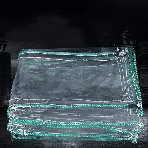 L-BHQF Bache imperméable Claire de PVC de 0.7mm Anti-vieillisseHommest, Feuille de Sol de bache extérieure d'isolation Couvrant Le Tissu jeté, 500g   M2 (Taille   1.8x3m)