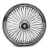TARAZON 16 x 3.5 Chrome Front Wheel Fat Spoke Wheel for Harley Softail, Baggers Heritage, Fat Boy, FLST, FLSTC, FLSTF 2000-2007
