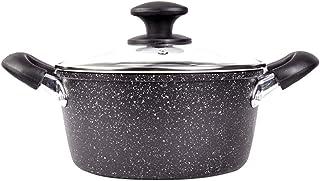 Dongyd Cacerola de Leche, Olla de Sopa espesante de Aluminio de 24 cm, Olla pequeña Cocina de inducción Olla de Sopa Antiadherente Gas General