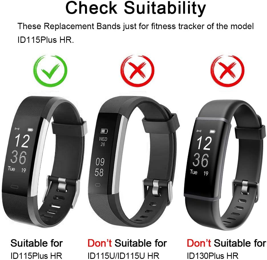 Lintelek Replacement Bands for Fitness Tracker ID115Plus HR Interchangeable Adjustable Wristbands Sets for Men Women ID115Pro