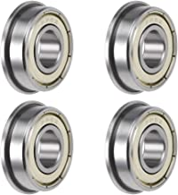 uxcell FR6ZZ Flange Ball Bearing 3/8 inches x 7/8 inches x 9/32 inches Shielded Chrome Bearings 4pcs