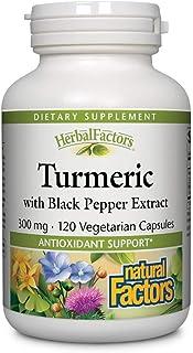HerbalFactors Turmeric with Black Pepper Extract Natural Factors 120 VCaps
