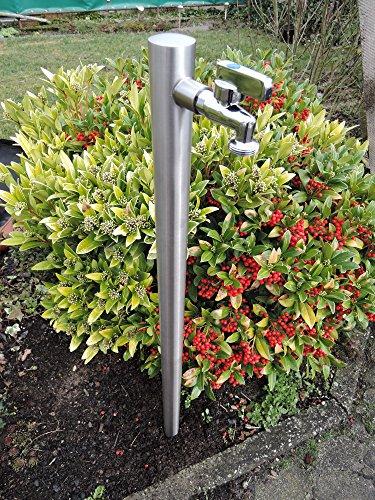 SchneckMetall Wasserzapfstelle Edelstahl V2A Wasserzapfsäule Ø42mm 85cm Wasserverteiler WS4285