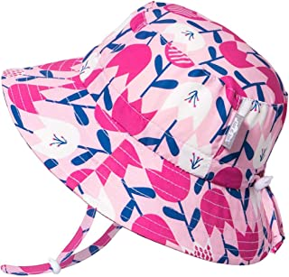 Girls Quick-Dry Sun-Hat 50+UPF Protection, Adjustable Straps, for Baby, Toddler, Kids