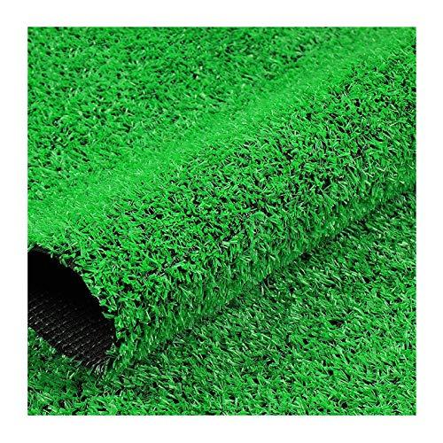 YNFNGXU Künstliches Grasrasen, Hohe Dichte Gefälschte Faux-Gras-Rasen, Natürlicher Und Realistisch Aussehender Garten-Haustierhund-Rasen, Für Gärten, Balkone, Rasenfläche(Size:10mm grass height-2mx2m)