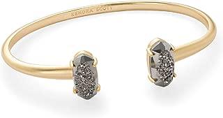 Kendra Scott Edie Gold-Plated Cuff Bracelet in Platinum-Color Drusy