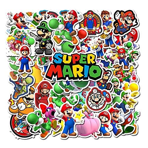 Super Mario Pegatina 100 unids/lote Super Mario PVC Pegatinas Arte Artesanías Colección Regalo Pared Diseño Graffiti Pegatinas
