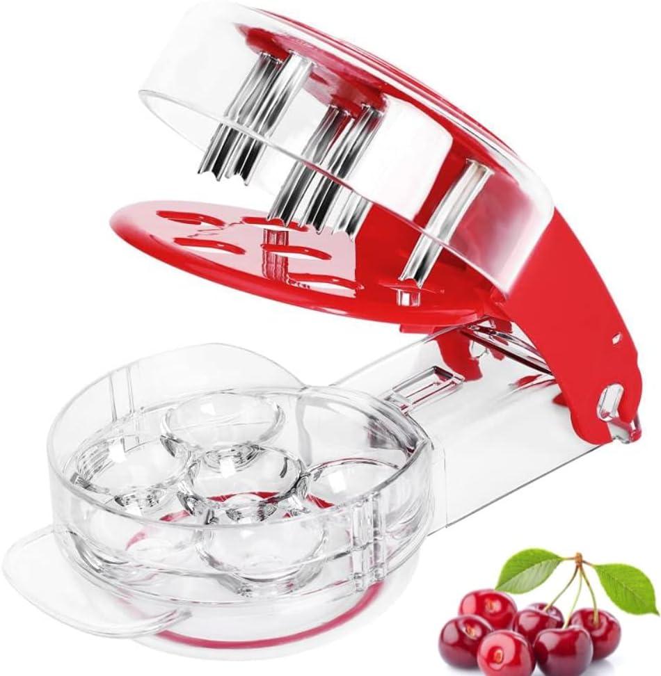 Henryzhu Cherry Pitter,Cherry Pitter Tool,Olive Pitter Tool,6 Ca