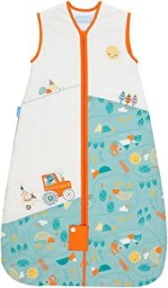 The Gro Company Grobag 1.0 Tog Folk Farm Travel Sleeping Bag for 0-6 Months Baby
