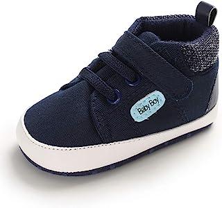 MASOCIO Baby Boy First Walking Shoes Infant Toddler Trainer Soft Sole Anti-Slip Prewalker