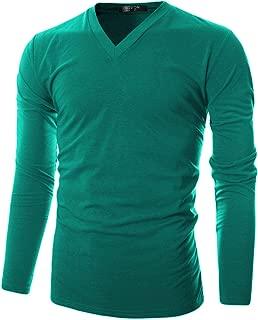 Mens Slim Fit Soft Cotton Long Sleeve Lightweight Thermal V-Neck T-Shirt