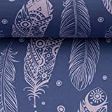 Swafing Softshell Fiete Federn, Rauchblau/rosa 50x145 cm
