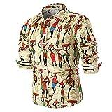 ALIKEEY La Personalidad De Hombres Camiseta De Manga Larga Slim Print Top Plaid Grande Personalidad Casual Los Hombres Verano Blusa Camisa Impresa.