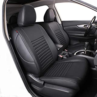 Lingyue Full Set Leatherette Custom Fit Car Seat Cover for Rogue 2014 2015 2016 2017 2018 2019, Airbag Compatible, Black Color