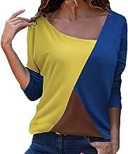 Xinantime Girl Splicing Color Tee Shirt, Women Leopard Print Casual Long Sleeve Shirt Blouse Tops Tunic