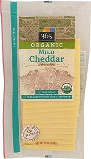 365 Everyday Value, Organic Mild Cheddar Slices, 12 oz