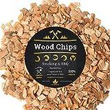 6 Litri Trucioli di legno per affumicatura per affumicatore e barbecue | Chunks, Chips 100% naturale delle foreste della Polonia XXL Accessori Grill BBQ, ideale per Weber, e altri 1,5KG (MIX GOLD, 6L)