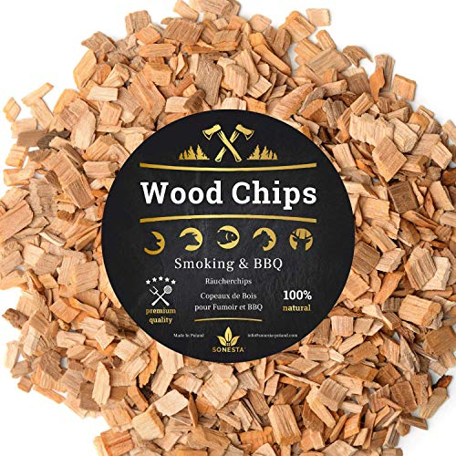 6 Litre Smoking Wood Chips for BBQ and Smoker - 100% Natural from Polish Forests - Accessories for any Barbecue as Weber, Gas Electric Charcoal | XXL Premium | NOBLE AND SMOKY FLAVOR (BEECH, 6L)