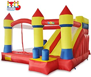 YARD Bounce House with Slide Obstacle Children Outdoor Jump Castle with Blower (13.1' x 12.5' x 8.2')