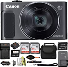 Canon PowerShot SX620 Digital Camera w/25x Optical Zoom w/Wi-Fi & NFC Enabled + 2 PCS 64Gb Sandisk Memory Card + Deluxe Ca...