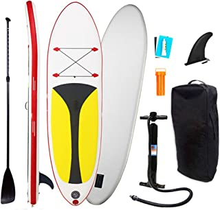 Inflatable Stand Up Paddle Board with Durable SUP Accessories & Carry Bag   Wide Stance, Surf Control, Non-Slip Deck, Safe...