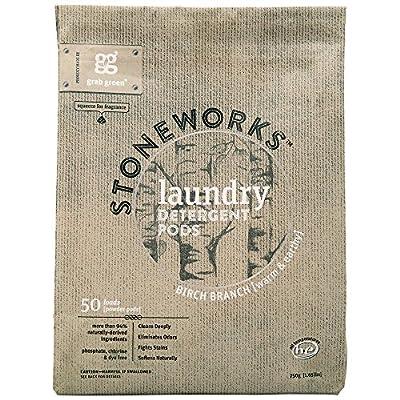 Grab Green Stoneworks Natural Laundry Detergent Powder Pods