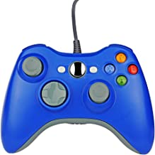 Wired Gaming Gamepad Controller Zoewal FA04 USB Gamepad for Xbox 360 Game and PC-Clear Blue (Third-party manufacturing)