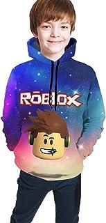 maichengxuan Ro-blox Hero - Sudadera con capucha unisex con estampado 3D para niños y niñas