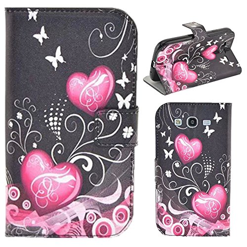 HUANGTAOLI Custodia in Pelle Flip Case Cover per Samsung I9060i Galaxy Grand Neo Plus