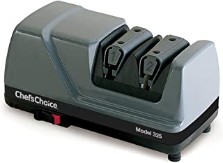Chef'sChoice 0000 Professional Diamond Sharp-N-Hone Electric Kitchen Knife Sharpener NSF Certified, 2-stage, Grey, Gray