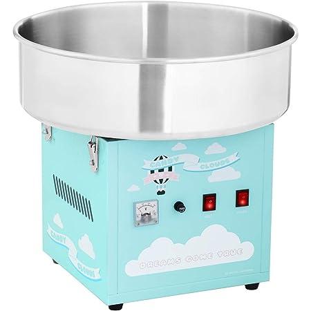 Royal Catering Machine À Barbe À Papa Set RCZK-1200-BG (1200 W, Cuve De 52 Cm, Appareil De Table, Protections Électriques, Inox/Alu, Bâti Turquoise)