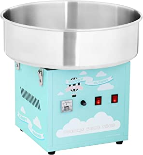 Royal Catering Machine À Barbe À Papa Set RCZK-1200-BG (1200 W, Cuve De 52 Cm, Appareil De Table, Protections Électriques,...
