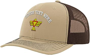 Custom Richardson Trucker Hat Thunderbird Embroidery Design Mesh Baseball Cap