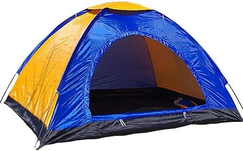 LA6 Vitesse Tente Ouverte Loisirs en Plein air 3-4 Personnes moustiquaire portable Randonnée Camping monocouche étanche à la Pluie Couple Tente 200  200  130cm