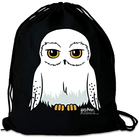 LOGOSHIRT - Harry Potter - Eule - Hedwig - Sportbeutel - Turnbeutel - schwarz - Lizenziertes Original Design