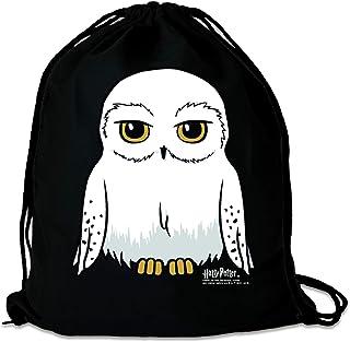 Harry Potter - Lechuza - Hedwig - Mochila Saco - Bolsa - negro - Diseño original con licencia