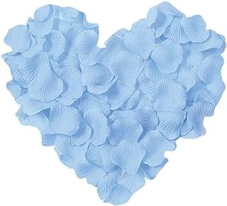 Neo LOONS 1000 Pcs Artificial Silk Rose Petals Decoration Wedding Party Color Light Blue