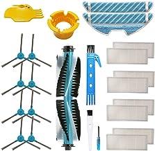TOOGOO Aspiradora Lateral Cepillo Lateral Trapeador Kits de Reemplazo para Cecotec Conga Excellence 1290 1390 Series Robot de Barrido