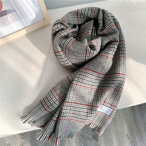 Waniii sjaal met dubbele gebruiksdoeleinden, super lange retro, dikke kraanstrook, vrouwen, herfst en winter