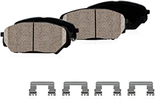 CPK11581 FRONT Performance Grade Quiet Low Dust [4] Ceramic Brake Pads + Dual Layer Rubber Shims + Hardware