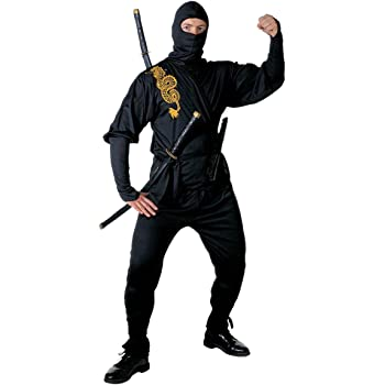 Adults Mens Ninja Master Costume Chinese Martial Arts Fighter Fancy Dress
