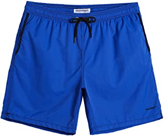 "CALOLEYNG Mens 6"" Short Swim Trunks with Liner Male Running Athletic Workout Gym Shorts"