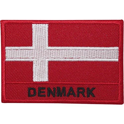 Dänemark-Flagge, bestickt, zum Aufnähen oder Aufbügeln, für Tasche, T-Shirt, dänische Stickerei