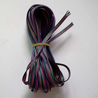 Nutbro - Cable alargador para Tira LED RGB 5050 3528 (10 m, 4 Pines, RGB, Cable de extensión de 4 Colores, Conductor de Alambre para SMD 5050 3528 RGB)