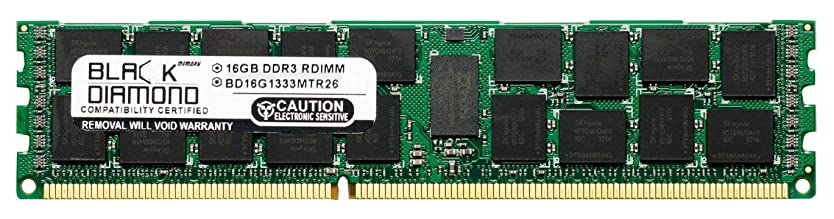 持つ誘発する癌16GB RAM Memory for Compaq ProLiant SL390s G7 (626447-B21) Black Diamond Memory Module DDR3 ECC Registered RDIMM 240pin PC3-10600 1333MHz Upgrade